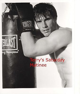 actor Austin Peck in 8 x 10 B/W Photo boxing