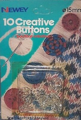 NEWEY CREATIVE BUTTONS - SELF COVER 15mm - 2 sets of 10