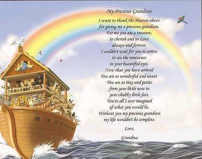 Personalized Poem for Grandaughter/Grandson Meaningful Gift Choose Background