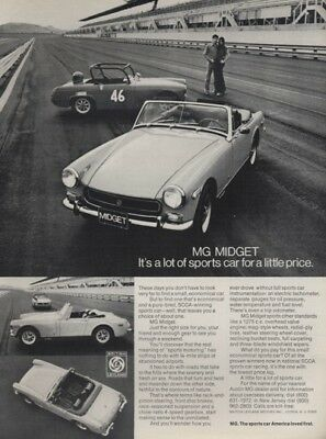 1972 MG Midget - Race track - Classic Vintage Advertisement Ad - G4