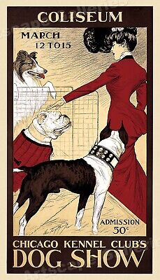 1902 Chicago Kennel Club Coliseum Dog Show Vintage Style Poster - 24x42