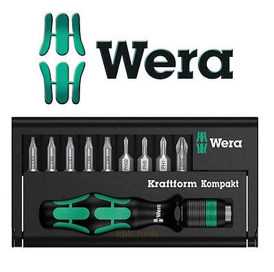 WERA Kraftform Kompakt 11 Pc Precision/Micro Torx/PH Screwdriver Bit Set,135942