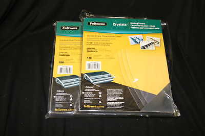 Fellowes 52043 Transparent Binding Covers Letter 200 ct