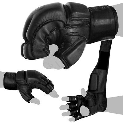 FOX-FIGHT FREEFIGHT MMA Handschuhe Grappling Boxhandschuhe Echtes Leder