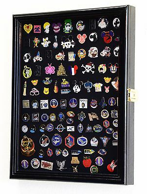 Lapel Pin Display Case Cabinet Shadow Box Frame Disney Hard Rock Collector Pins