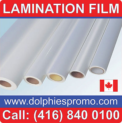"""Any purpose Clear LAMINATING Cold Matte Laminate Film 36"""" x 150'"""