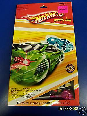 RARE Hot Wheels Fast Action Racecar Race Car Kids Birthday Party Favor Goody Bag