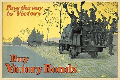 Buy Canadian Victory Bonds!  WW1 War Bond Poster 16x24