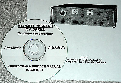 DYMEC / HP / Hewlett Packard DY-2650A Osc.Sync.  Operating  & Service Manual