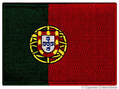 PORTUGAL FLAG embroidered iron-on PATCH PORTUGUESE new