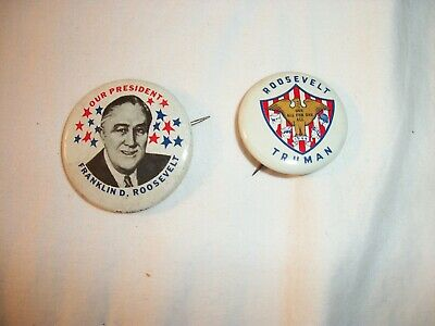 Replica Campaign Button- Roosevelt  Lot of 2