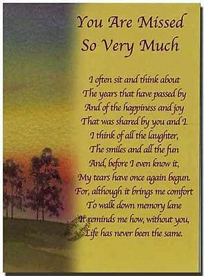 Grave Card - You are Missed So Very Much - FREE Holder-M15X - Memorial Funeral