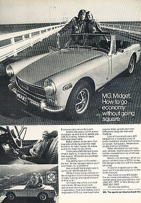 1972 MG Midget Classic - going square - Vintage Advertisement Ad