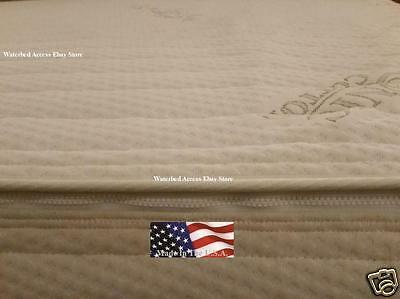 California King ZIPPER Mattress Cover w/ WATERBED Safety LINER -HARDSIDE