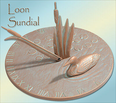 Whitehall Sundial Loon Large Cast Aluminum Rust Free with 3 Color Choices!