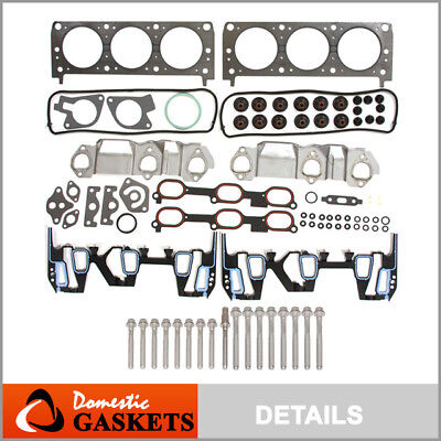 96-05 Chevrolet Pontiac Oldsmobile 3.1L 3.4L Head Gasket Head Bolt Set VIN E J