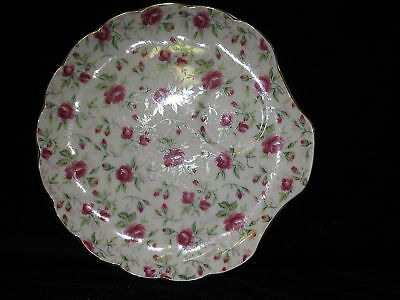 LEFTON - ROSE CHINTZ - SNACK PLATE ONLY