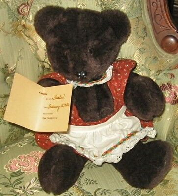 """1-of-kind Lg Cuddly """"Heather"""" Artist Signed Bear•100% Charity Listing•Great Gift"""