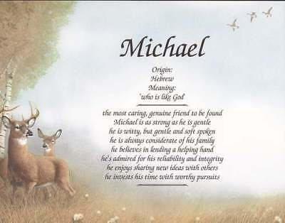 Personalized Name On Deer Art Unique Gift For Husband Brother Son Boyfriend