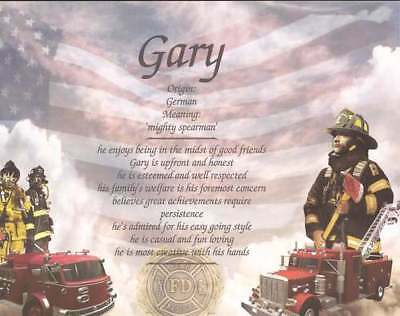 Personalized Firefighter Name Great Gift Idea Husband Friend Son Department Gift
