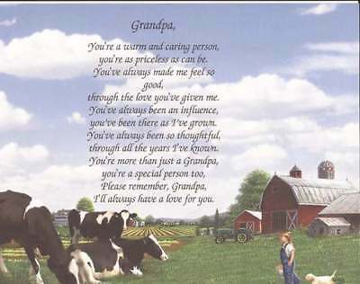 Grandpa Papa Personalized Gift Poem Choose Art Birthday Father's Day Gift