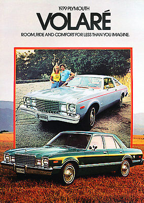 1979 Plymouth Volare Sales Brochure Book Road Runner