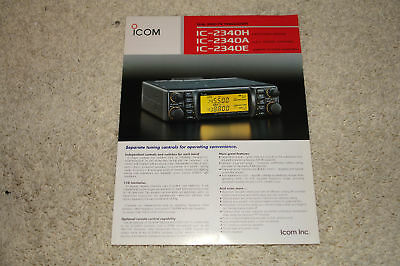 Icom IC-2340H Mobile FM Transceiver Advertising Flyer
