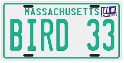 Larry Bird Boston Celtics Rookie 1980 MA License plate