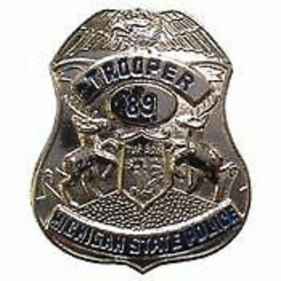 MICHIGAN TROOPER POLICE OFFICER BADGE PIN