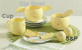 Easter Yellow Chick Dip Bowl and Spreader S/3