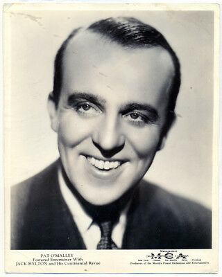 PAT O'MALLEY double weight publicity photo 1930s
