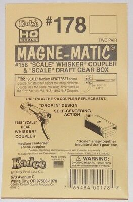 Kadee HO scale  # 178 magne-matic couplers w/ scale box