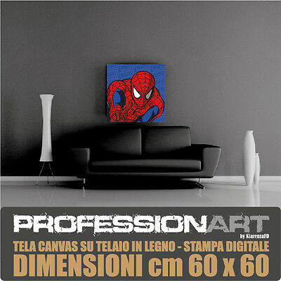 Tela Canvas Marvel Spiderman Quadro Arredo 60X60