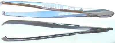 PINCE A EPILER NOGENT PROFESSIONNELLE FORME COURBE CHROMEE  8cm