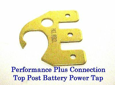 Brass Top Post Battery 3 Circuit Power Tap - .250 Push-On Connector 30703