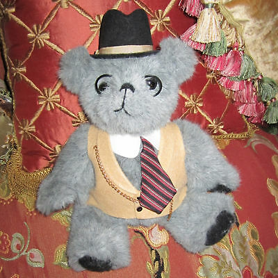 Dapper Gent Jointed Victorian Dressed Grandpa Daddy Bear 100% Charity Listing