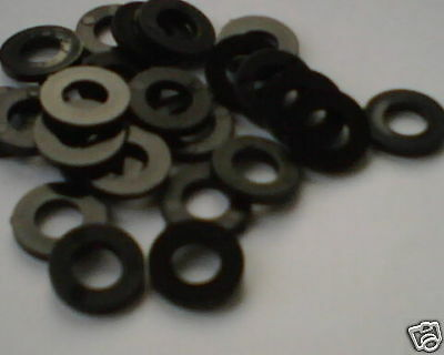 M8 BLACK Plastic washers - pack of 10 -FREE POST !!
