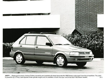 1993 Subaru Justy Press Photo and Sales Release