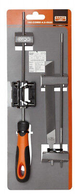 BAHCO Chainsaw 4.8mm Round,Flat & Guide Blade Sharpening File Kit, 168-COMBI-4.8