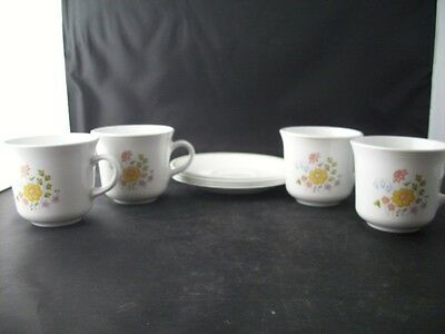 Corelle Corning Meadow Set of 4 Cups and Saucers