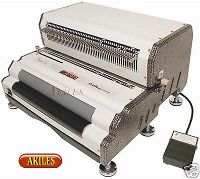 Akiles Coilmac EPI+ Electric Coil Binding Machine & Punch & Inserter & Oval Hole