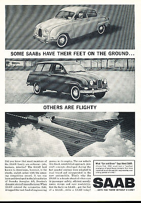1962 Saab 2-door and wagon Classic Advertisement Ad