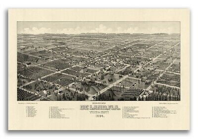 18x24 West Palm Beach Florida 1915 Historic Panoramic Town Map