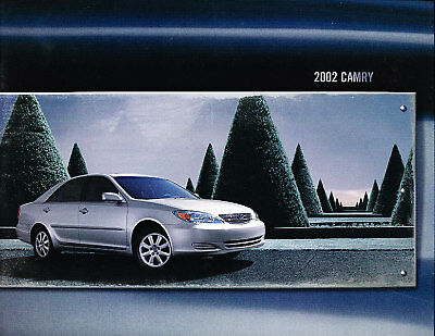 2002 Toyota Camry 18-page Original Car Sales Brochure Book