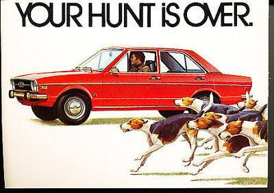 1974 1973 Audi Fox Sales postcard promo