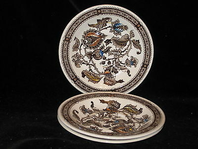 RIDGWAY - JACOBEAN - BROWN MULTI - 3x Saucers Only