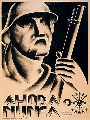 Now or Never - 1930s Spanish Civil War Poster - 24x32