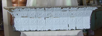 RECYCLED SHABBY ANTIQUE Tin Ceiling Shelf 3 FT BLUE