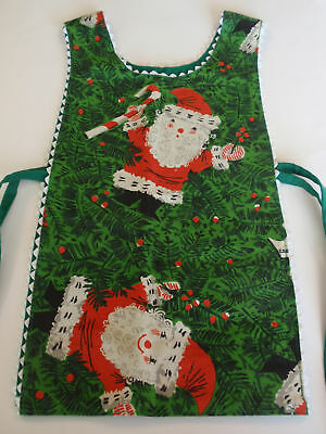Vintage Girls Handcrafted Reversible Chrstmas Apron