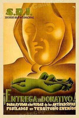 "SRI ""Make Your Donation"" Spanish Civil War Poster 24x36"